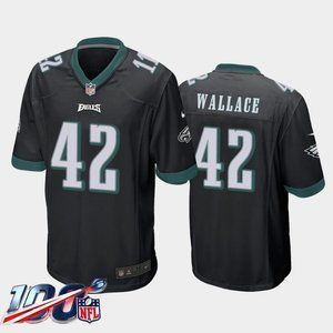Philadelphia Eagles K'Von Wallace Black Jersey